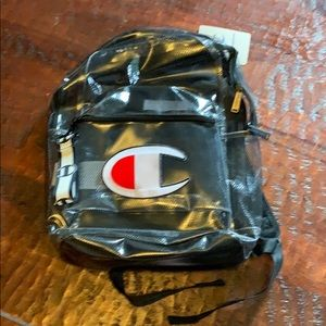 Champion Clear Backpack. New